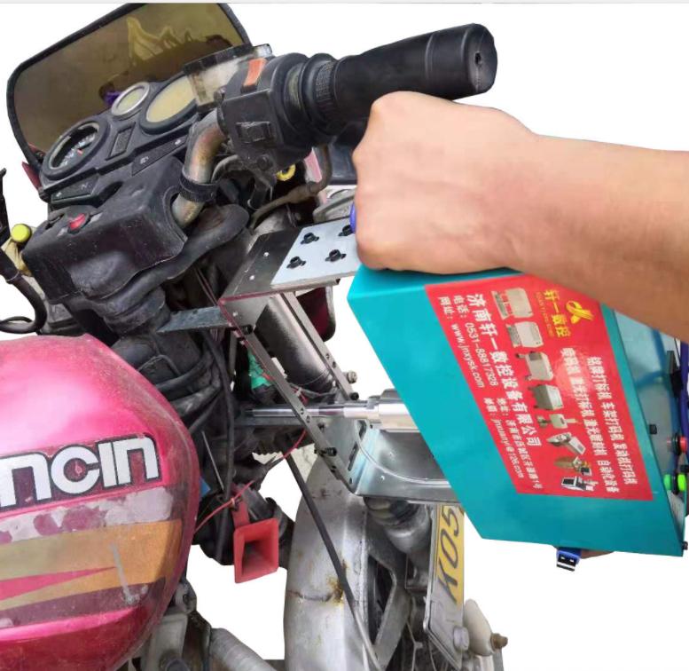 轩一 智能气动打标机 摩托车车架发动机打码机 小型大梁打号机长期供应