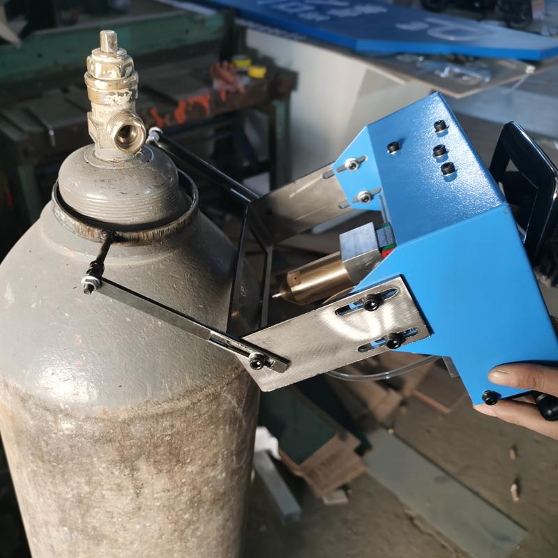 济南轩一磁吸式灭火器钢瓶打码机 液化气罐打字机 天然气钢瓶刻字机厂家