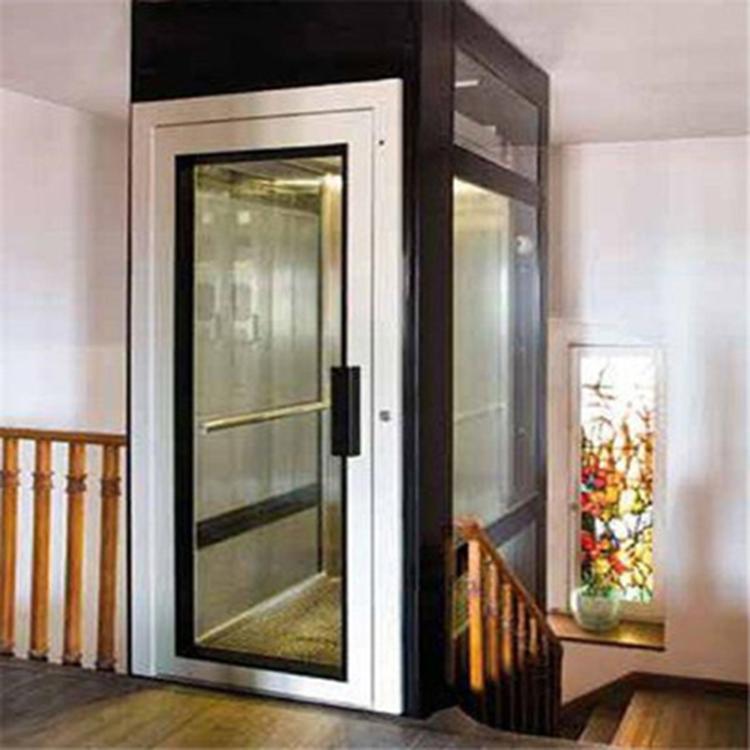 家用小型电梯 小型家用电梯一二三层观光电梯家用室内外升降机复式阁楼升降台